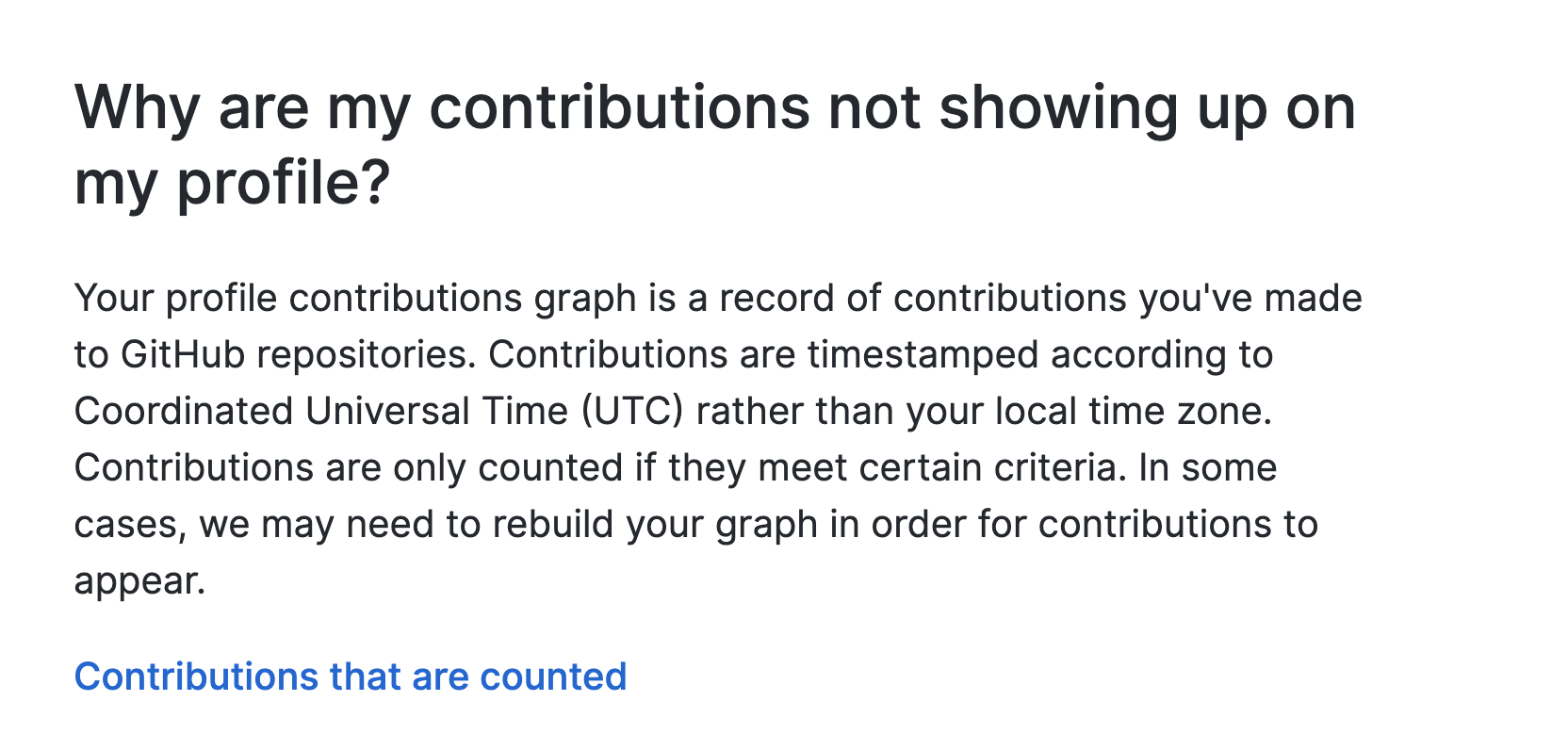 Why am I not listed as a contributor after I contributed?
