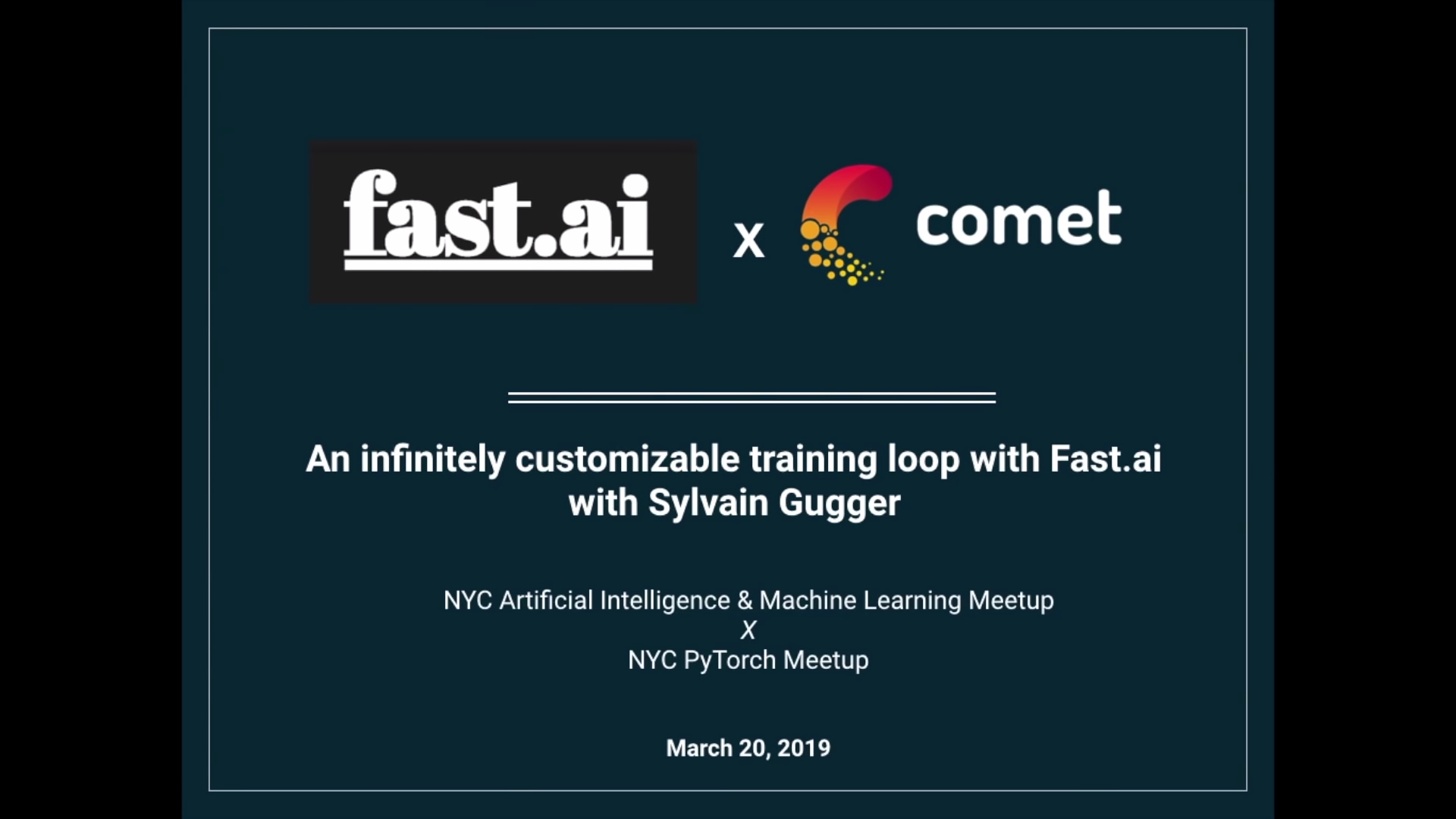 Sylvain Gugger at a joint NYC AI & ML x NYC PyTorch on 03/20/2019